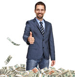 Successful businessman with thumb up Stock Image