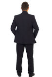 Successful businessman. Turned back of a young businessman royalty free stock images
