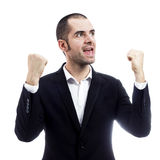 Successful businessman. Win and success concept in business Royalty Free Stock Photography