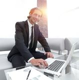 Successful businessman working in his office. Royalty Free Stock Photo