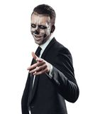 Successful businessman zombie. Shows thumb stock photo