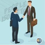 Successful businessmen handshaking Stock Photo