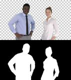 Successful businesspeople, business team posing, Alpha Channel stock photo