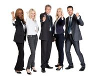 Successful businesspeople showing thumbs up Stock Photos