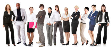 Successful businesspeople smiling to the camera Royalty Free Stock Image