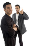 Successful businesspeople with thumbs up Royalty Free Stock Photos