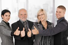 Successful businessteam smiling Royalty Free Stock Photos