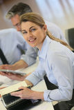 Successful businesswoman attending meeting Royalty Free Stock Photography