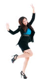 Successful Businesswoman Celebrating Stock Photography
