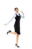 Successful businesswoman celebrating her achiement Stock Images