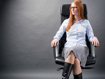 Successful Businesswoman in a Chair Stock Photos