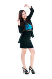 Successful Businesswoman Dancing Royalty Free Stock Photography
