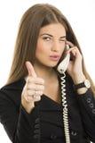 Successful businesswoman gesturing okay Stock Photos