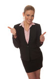 Successful businesswoman giving a thumbs up Stock Photography