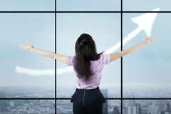 Successful businesswoman growing her business 1 Stock Photography