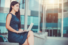 Successful Businesswoman with laptop Royalty Free Stock Images