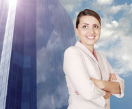 Successful businesswoman on the modern backgrou Royalty Free Stock Image