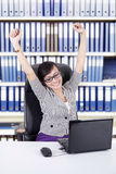 Successful businesswoman at office Stock Image