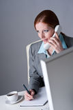 Successful businesswoman on the phone Royalty Free Stock Photo
