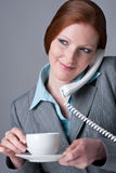 Successful businesswoman on the phone Stock Image