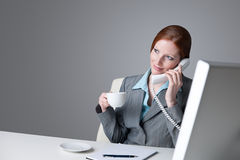 Successful businesswoman on the phone Stock Photos