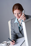 Successful businesswoman on the phone Stock Images