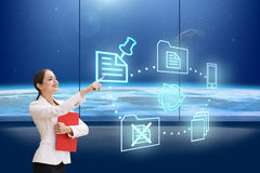 Successful businesswoman with red folder Royalty Free Stock Photo