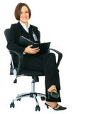Successful Businesswoman Sit On Chair Royalty Free Stock Photography