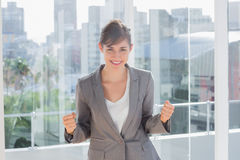 Successful businesswoman smiling at camera Royalty Free Stock Photos