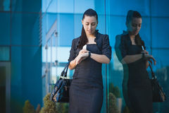 Successful businesswoman talking on cellphone. Stock Images