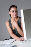 Successful businesswoman thinking Royalty Free Stock Image