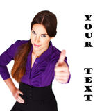 Successful businesswoman thumb up Stock Photo
