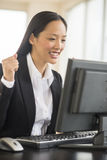 Successful Businesswoman Working On Computer Royalty Free Stock Photography