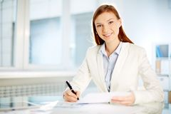 Successful businesswoman Stock Image