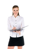 Successful businesswomen with the folder Royalty Free Stock Image