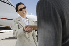 Successful Businesswomen Shaking Hands Royalty Free Stock Images