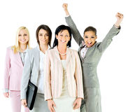 Successful businesswomen team royalty free stock images