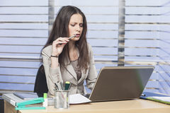 Successful businesswomen working in the office Stock Photo