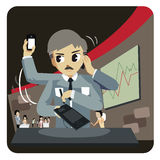 Successful busy business man - vector Royalty Free Stock Images