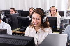 Successful call center Royalty Free Stock Images