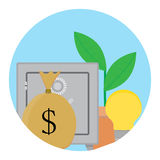 Successful capitalization funds icon Royalty Free Stock Photography