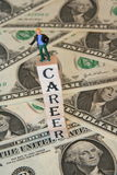 Successful career. Earnings lots of money with a successful career Stock Images