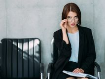 Successful career business lady hr manager stock photography