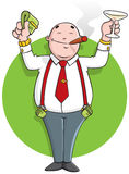 Successful cartoon businessman Stock Images
