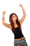 Successful casual girl. Isolated on a over white background stock photography