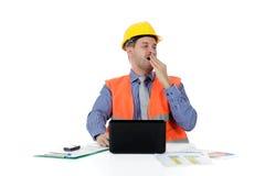 Successful  caucasian man architect, thinking Stock Photo