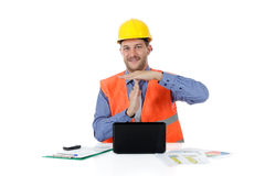 Successful caucasian man architect, time out Stock Photography