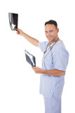 Successful caucasian man doctor, x-ray Royalty Free Stock Images