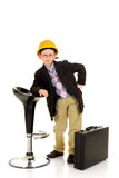 Successful child bar stool Stock Photo