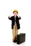 Successful child bar stool Royalty Free Stock Photo